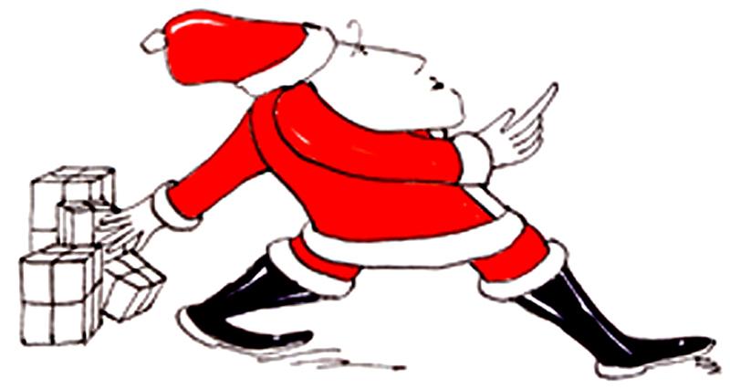 Weihnachtsmann-1- mehrere Pakete