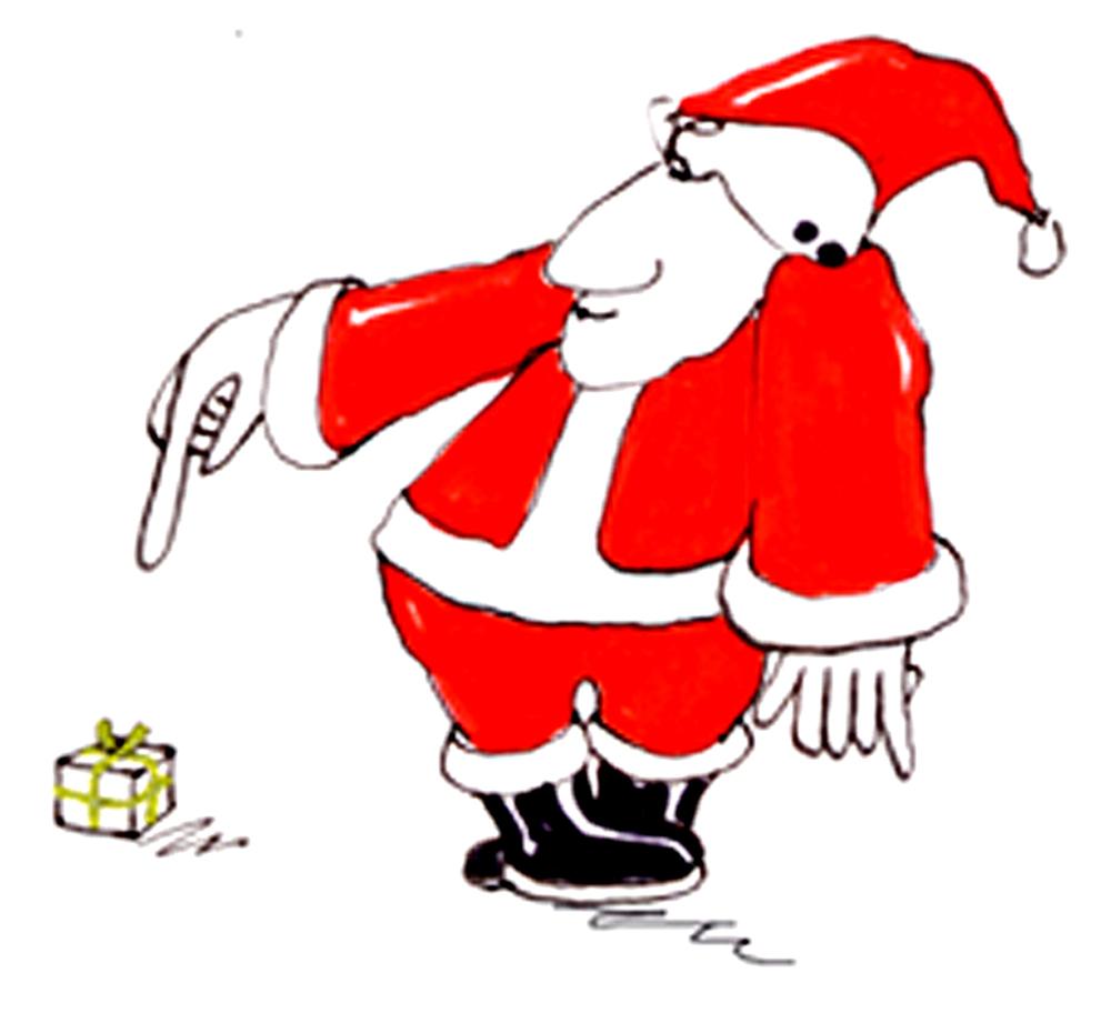 Weihnachtsmann-2- kleines Päckchen