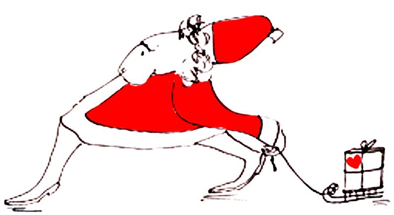 Weihnachtsmann-3- mt Schlitten