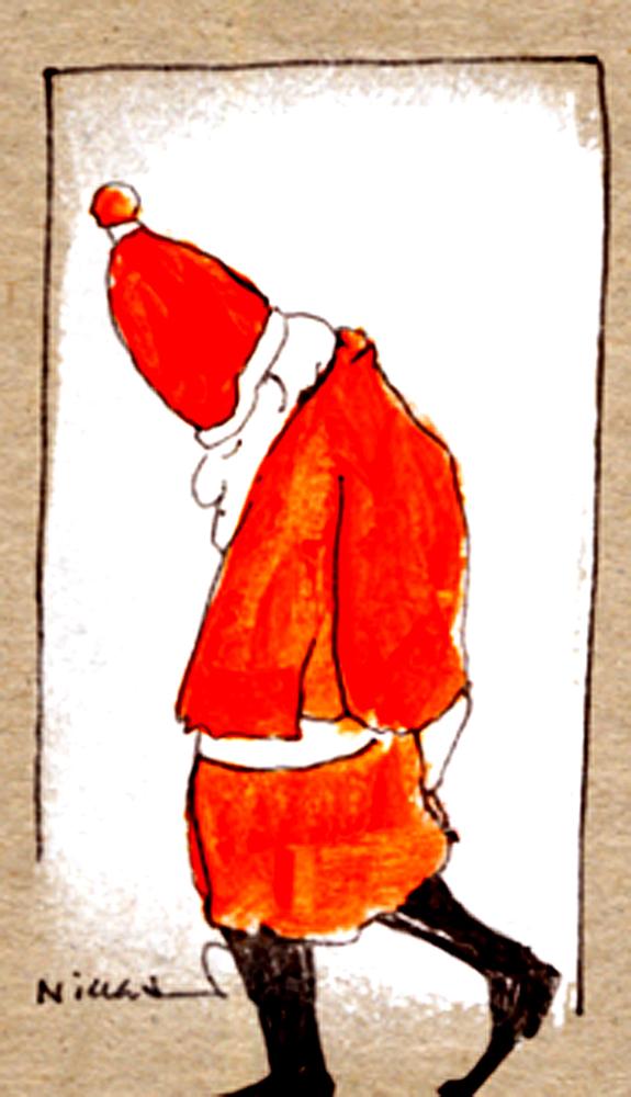 Weihnachtsmann in Gedanken